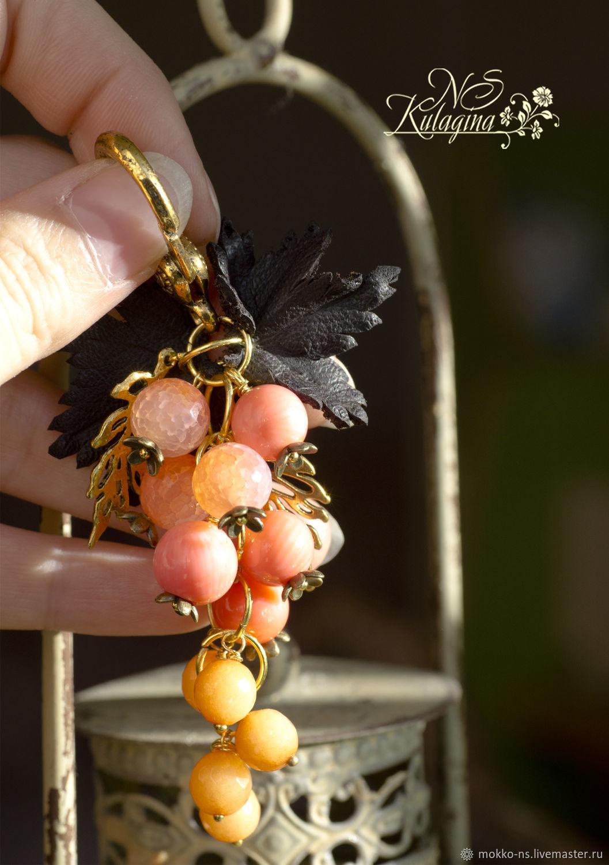 Брелок Розовый виноград, Брелок, Санкт-Петербург,  Фото №1