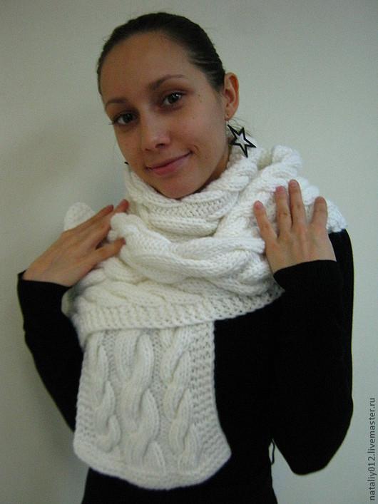 """Шарфы и шарфики ручной работы. Ярмарка Мастеров - ручная работа. Купить Шарф """" Winter"""". Handmade. Белый, шерсть 100%"""