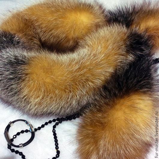 Шали, палантины ручной работы. Ярмарка Мастеров - ручная работа. Купить Горжетка из лисы «For luxury lady». Handmade.