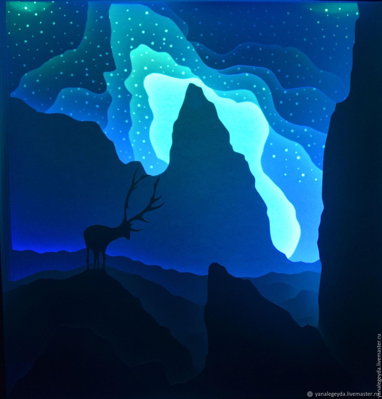 """The light panel is """" Reindeer"""", Nightlights, Ust-Ilimsk,  Фото №1"""