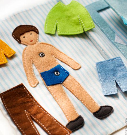 Развивающие игрушки ручной работы. Ярмарка Мастеров - ручная работа. Купить Кукла с нарядами (развивающая книжка). Handmade. Развивающая игрушка