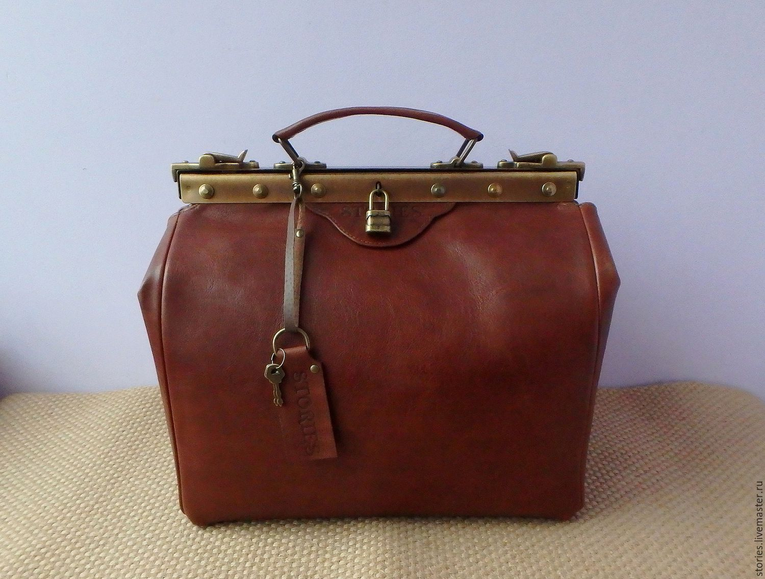 bag leather doctoral, Valise, Dubna,  Фото №1