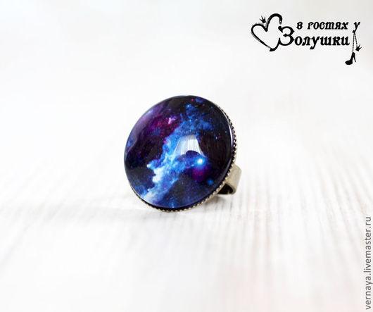 """Кольца ручной работы. Ярмарка Мастеров - ручная работа. Купить Кольцо """"Космос"""". Handmade. Тёмно-синий, звездное небо"""