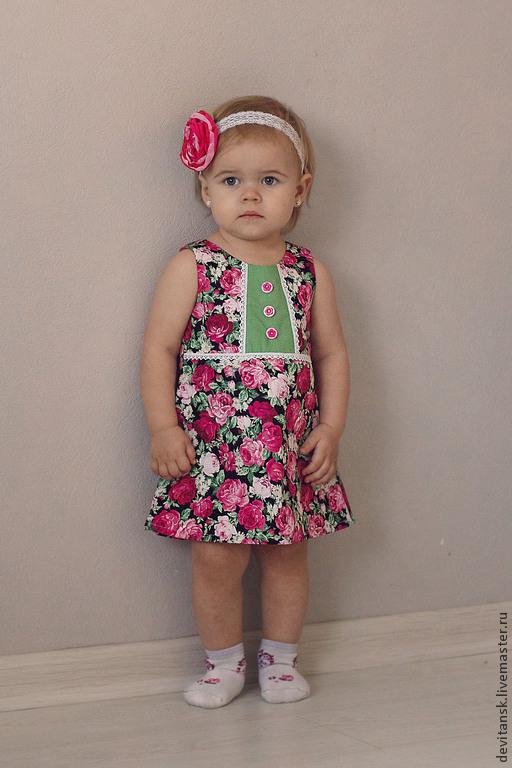 Одежда для девочек, ручной работы. Ярмарка Мастеров - ручная работа. Купить Платье для девочки Розарий. Handmade. Платье для девочки, платье