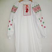 Одежда ручной работы. Ярмарка Мастеров - ручная работа Женская вышитая туника из хлопка. Handmade.