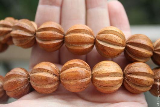 Для украшений ручной работы. Ярмарка Мастеров - ручная работа. Купить Байонг-деревянная бусина  Сквош  20 мм. Handmade.