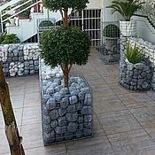 Для дома и интерьера handmade. Livemaster - original item Gabion-the flower of galvanized welded mesh. Handmade.
