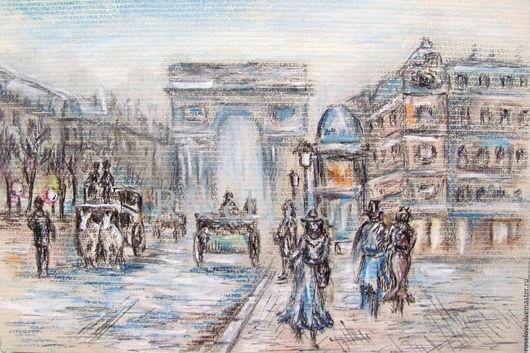 купить картина париж,картина париж купить,купить картину с видом парижа,городской пейзаж картины,бульвары парижа,городские картины,картина Триумфальная Арка париже,достопримечательности парижа,картина