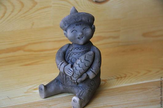 Коллекционные куклы ручной работы. Ярмарка Мастеров - ручная работа. Купить Лесные малыши. Handmade. Коричневый, авторская кукла, окарина