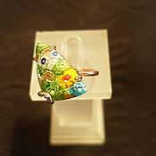 Украшения ручной работы. Ярмарка Мастеров - ручная работа Золотое кольцо с мурано. Handmade.