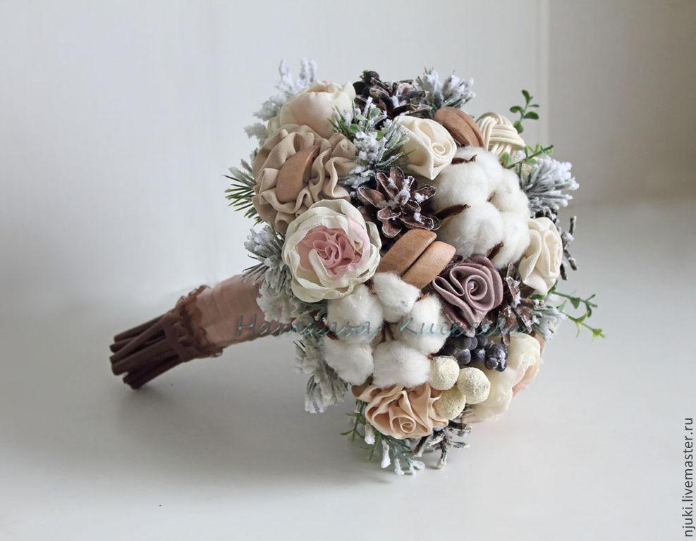 Зимний свадебный букет заказать москва живые цветы где купить в новосибирске