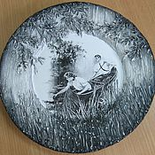 """Посуда ручной работы. Ярмарка Мастеров - ручная работа Сувенирная тарелка """"Лодочка"""". Handmade."""
