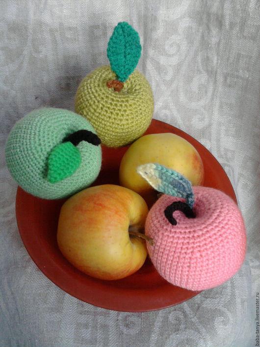 Еда ручной работы. Ярмарка Мастеров - ручная работа. Купить Яблочки молодильные. Handmade. Зеленый, розовый, яблочко, яблочный