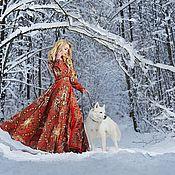 """Одежда ручной работы. Ярмарка Мастеров - ручная работа Платье нарядное, платье длинное в пол """"Тайна сердца"""". Handmade."""