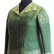 Одежда handmade. Livemaster - original item The jacket from wool, felted, 56 size.. Handmade.