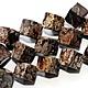 Артикул M3-15 Арахисовый обсидиан - бусины-кубики Купить обсидиан натуральный. Цена за 1 нить!