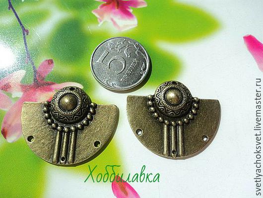 Коннекторы -подвески в Египетском стиле  Античная бронза размер 3,7*3 см  размер отверстия 1,5 мм