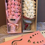 Композиции ручной работы. Ярмарка Мастеров - ручная работа Композиции:цветы из мыла в коробках. Handmade.