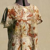 """Одежда ручной работы. Ярмарка Мастеров - ручная работа Блуза летняя """"Ботаника"""" , эко принт. Handmade."""