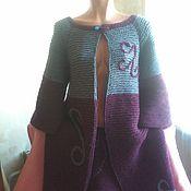 Одежда ручной работы. Ярмарка Мастеров - ручная работа Вязаное пальто  Осень цвета фуксии. Handmade.