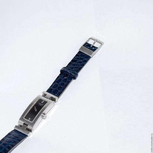Часы ручной работы. Ярмарка Мастеров - ручная работа. Купить Глубокое синее море ремешок на TISSOT из крокодила. Handmade.