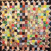 """Для дома и интерьера ручной работы. Ярмарка Мастеров - ручная работа Лоскутное одеяло """"Поляны"""". Handmade."""