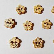 Пуговицы ручной работы. Ярмарка Мастеров - ручная работа Пуговицы: Пуговицы кокосовые Цветочки. Handmade.