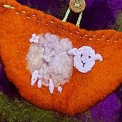 """Работы для детей, ручной работы. Ярмарка Мастеров - ручная работа Валяный жилет для девочки """"Счастливая овечка"""". Handmade."""