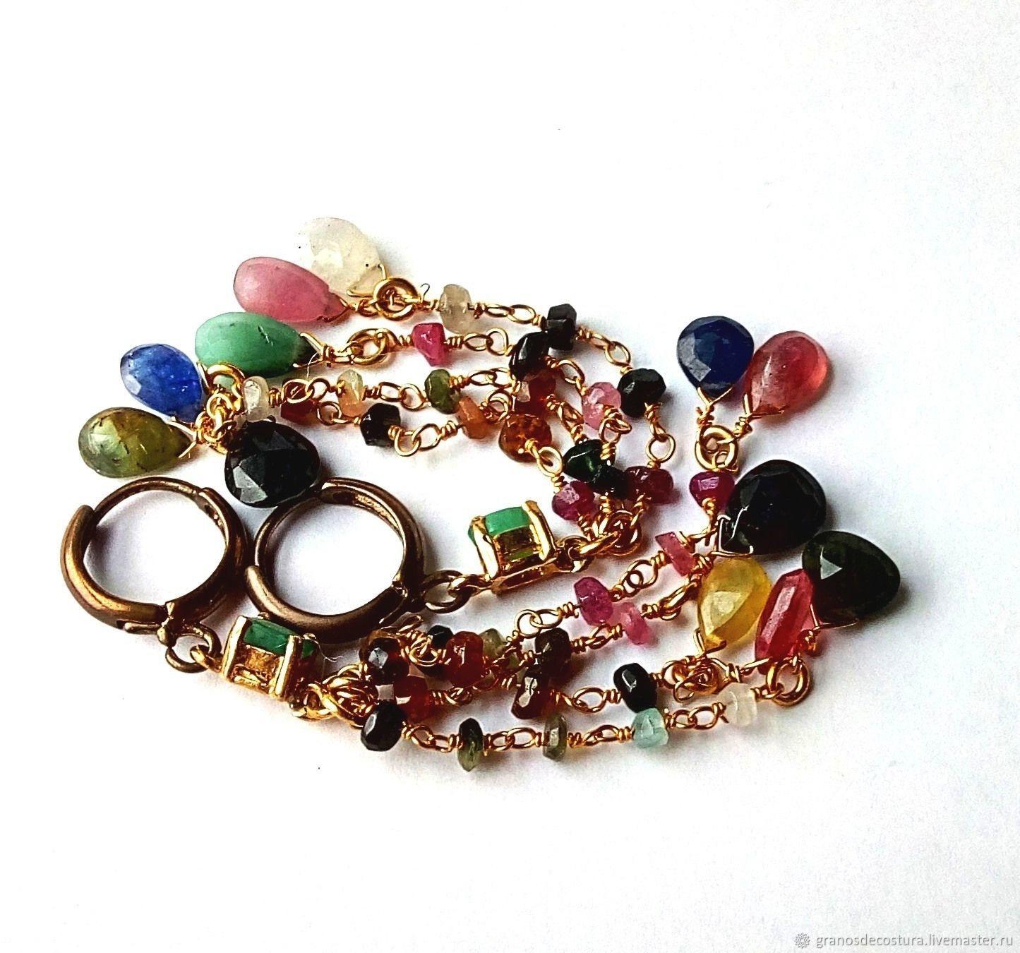 Earrings with tourmaline, Earrings, Krasnodar,  Фото №1