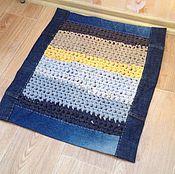 Для дома и интерьера ручной работы. Ярмарка Мастеров - ручная работа Вязаный коврик. Handmade.