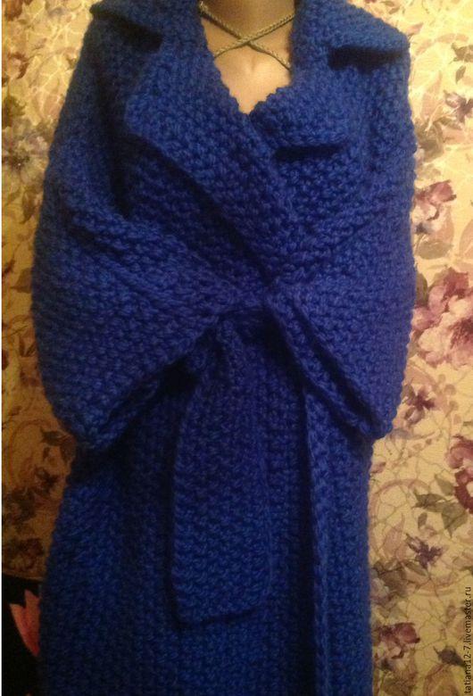 """Верхняя одежда ручной работы. Ярмарка Мастеров - ручная работа. Купить """" Королевский синий"""" пальто ручной работы. Handmade."""