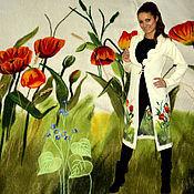 """Одежда ручной работы. Ярмарка Мастеров - ручная работа Пaльто  """"Тюльпаны"""". Handmade."""