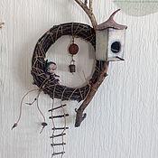Для дома и интерьера ручной работы. Ярмарка Мастеров - ручная работа Интерьерная подвеска Домик на дереве. Handmade.