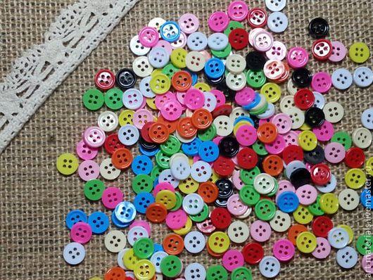 Шитье ручной работы. Ярмарка Мастеров - ручная работа. Купить Пуговки цветные 9 мм. Handmade. Комбинированный, цветные пуговицы