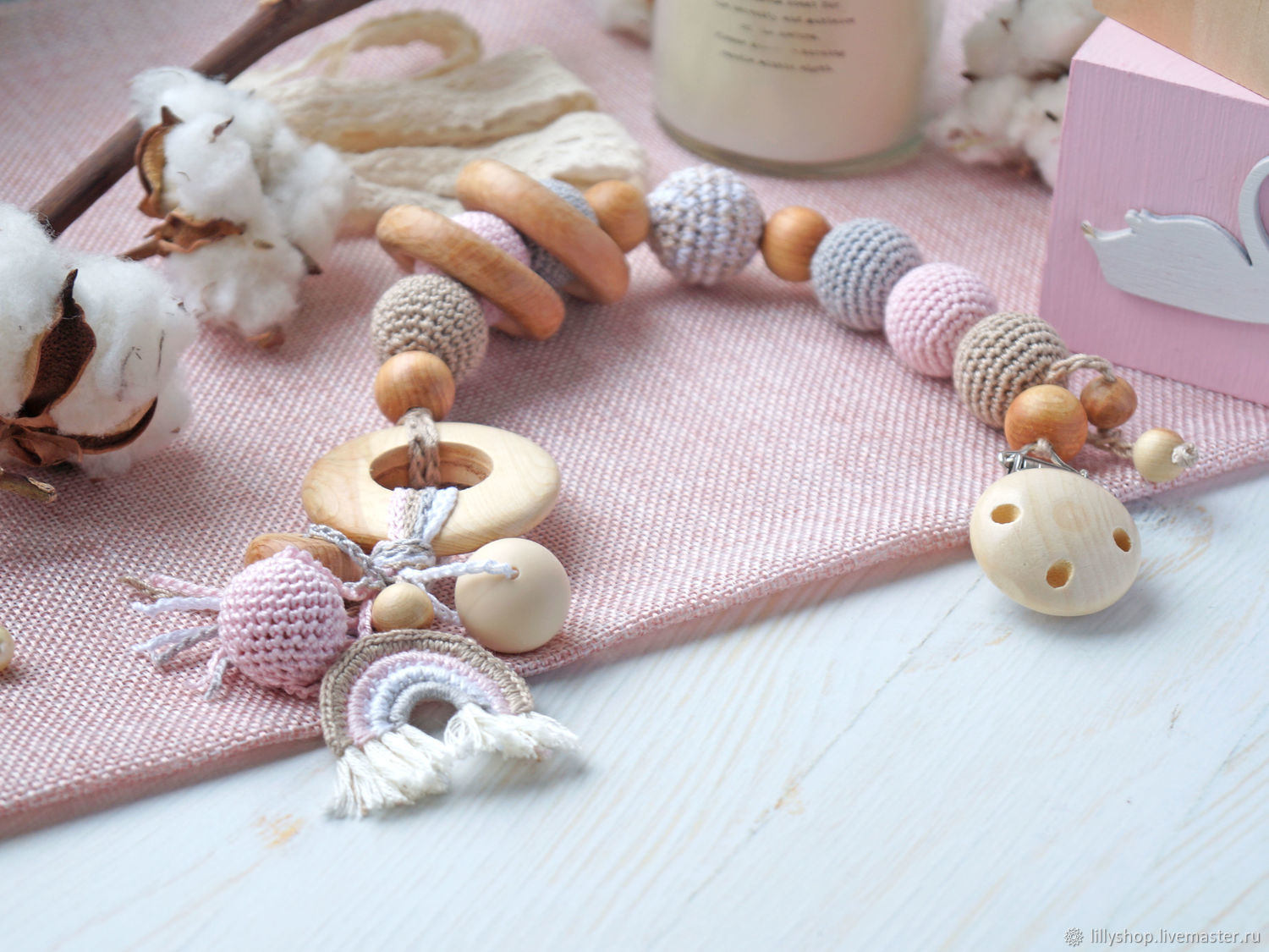 Teething toy, teether, this boho with the rainbow, Teethers and rattles, St. Petersburg,  Фото №1