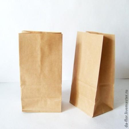 Упаковка ручной работы. Ярмарка Мастеров - ручная работа. Купить Крафт пакет с плоским дном 9 см х 6,5 см х 17см. Handmade.