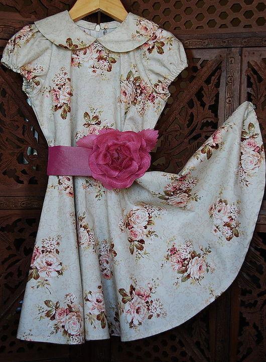 Одежда для девочек, ручной работы. Ярмарка Мастеров - ручная работа. Купить ПРАЗДНИЧНОЕ платье для девочки. Handmade. Платье для девочки, воротничок