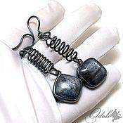 Украшения handmade. Livemaster - original item Earrings with kyanite, silver earrings, silver earrings with kyanite. Handmade.