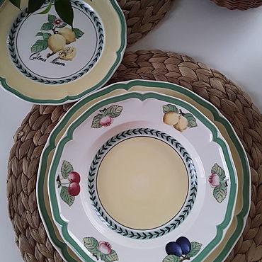 Посуда. Ярмарка Мастеров - ручная работа Тарелки French garden. Handmade.