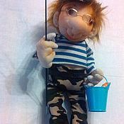 Куклы и игрушки ручной работы. Ярмарка Мастеров - ручная работа Друзья - рыбаки и охотники. Handmade.