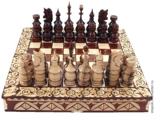 Настольные игры ручной работы. Ярмарка Мастеров - ручная работа. Купить Шахматы Мистерия (классические фигуры, клён) (5914). Handmade.