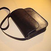 Сумки и аксессуары handmade. Livemaster - original item Small women`s handbag made of genuine black leather.. Handmade.