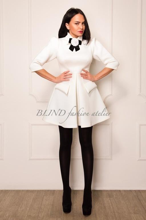 Платья ручной работы. Ярмарка Мастеров - ручная работа. Купить Платье из плотного трикотажа 00101. Handmade. Белый, платье, blind
