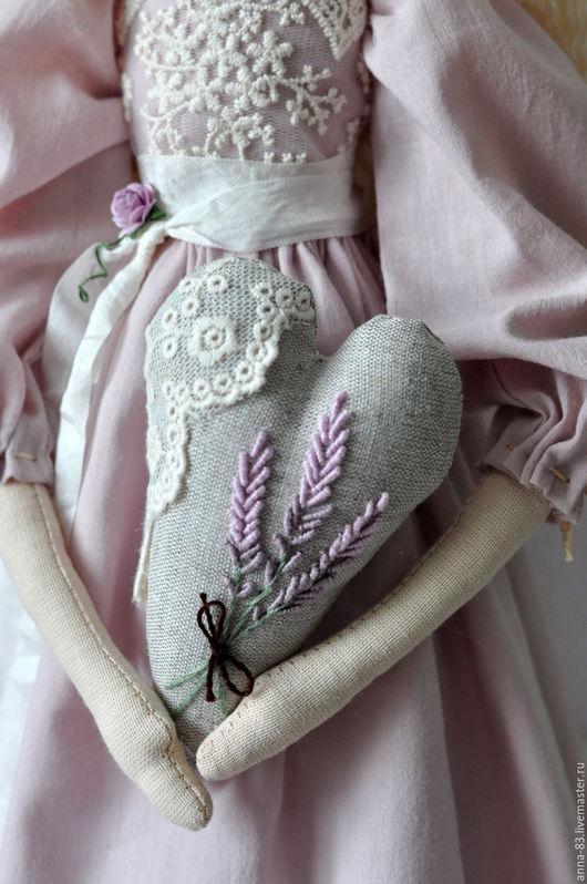 """Коллекционные куклы ручной работы. Ярмарка Мастеров - ручная работа. Купить Ангел в стиле """"Прованс"""". Handmade. Бледно-сиреневый, ленты"""