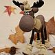moose. Walk in the woods. Stuffed Toys. Svetlana Semenova Toys (gorodchudakoff). My Livemaster. Фото №4