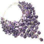 Украшения handmade. Livemaster - original item Amethyst Parfait. Necklace with natural amethysts. Handmade.