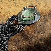 Украшения ручной работы. Ярмарка Мастеров - ручная работа Кулон IONIKA (серебро, аквамарин). Handmade.