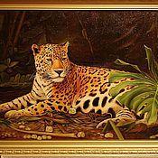 Картины и панно ручной работы. Ярмарка Мастеров - ручная работа Леопард отдыхает.... Handmade.