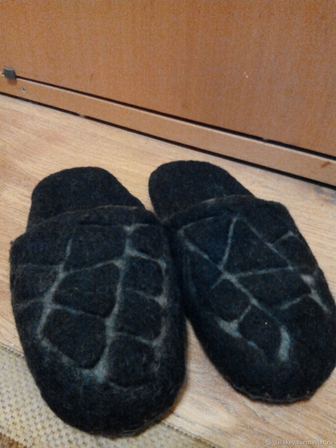 Felted Slippers for men the Road of black stone, Slippers, Moscow,  Фото №1