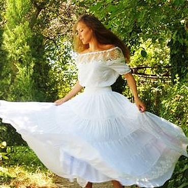 """Одежда ручной работы. Ярмарка Мастеров - ручная работа """"Candy"""" бохо юбка (платье или костюм). Handmade."""